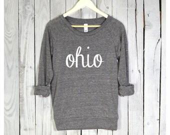 Ohio Shirt. Ohio Pullover. Raglan Sleeves. Alternative Apparel.