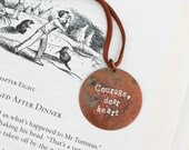 Courage Dear Heart Narnia Necklace Aslan Quote Metal Stamped Copper Jewelry  Gifts Under 30
