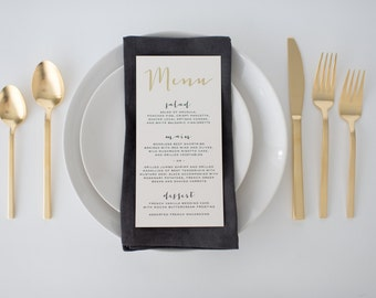 gold foil wedding menus (sets of 10)  // lola louie paperie
