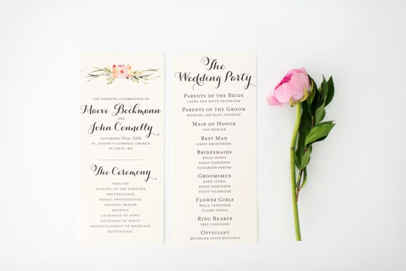 maeve wedding programs (sets of 10)  // lola louie paperie