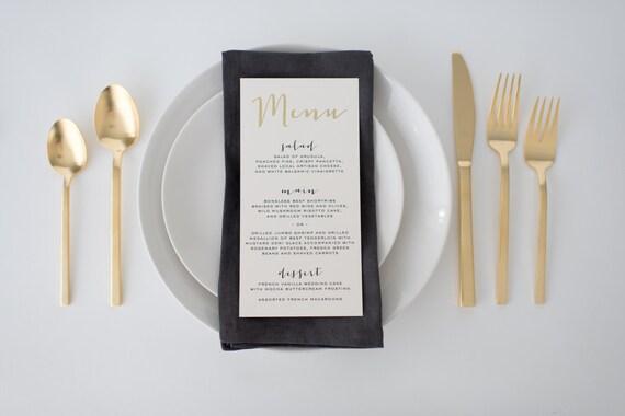 gold foil wedding menus (sets of 10)  // lola louie paperie