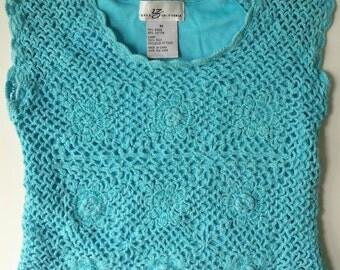 Vintage Crop Top Beaded Crochet Top Byer California
