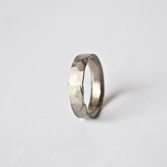 mens hammered gold ring  eBay