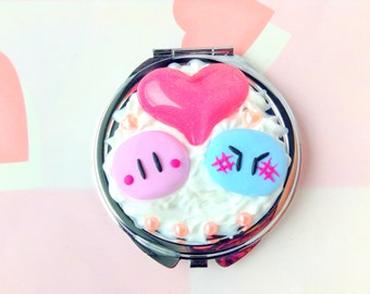 Clannad Dango Compact Mirror, Decoden Mirror, Anime Polymer Clay, Anime Pocket Mirror, Kawaii Decoden, Cute Compact Mirror, Kawaii Mirror
