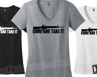 Come and take it tshirt shirt gift guns NRA rifles shooting 2nd amendment AR15