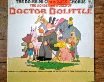 1971 The Wonderful World of Doctor Dolittle, The Do-Re-Mi Children's Choir Vinyl Record KL-1540. E/NM.  Kapp Records