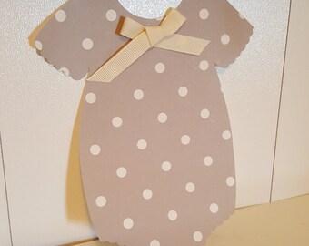 10 Polka Dot Baby Shower Onesie Invitations