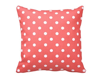 Decorative Pillow Cover Coral Throw Pillow Coral Pillow Covers Polka Dot Pillows Accent Pillows Throw Pillows for Couch Coral Cushions