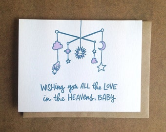 Wishing You All The Love In The Heavens, Baby Greeting Card