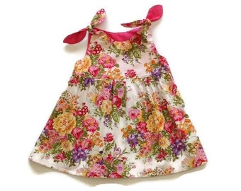 BABY DRESS, floral baby girl dress, size 3m 6m 12m 18m 2T, dresses babies, baby girl gift, baby shower girls, baby dresses