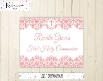 pink communion welcome sign baptism sign girl baptism sign confirmation welcome sign printable pink sign printable welcome sign pink 170