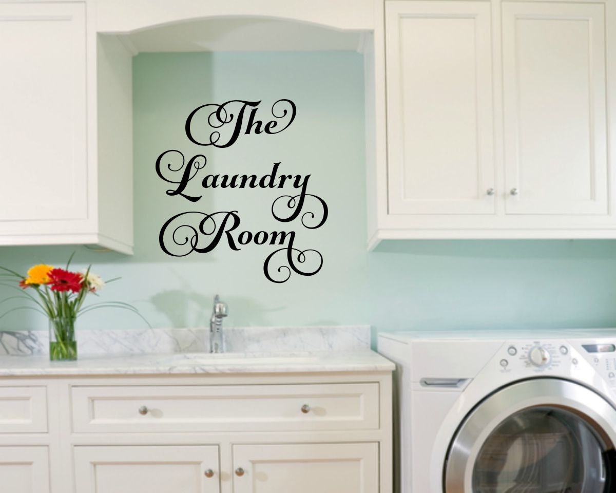 Laundry Room Decal Laundry Wall Decal Laundry Vinyl Decal