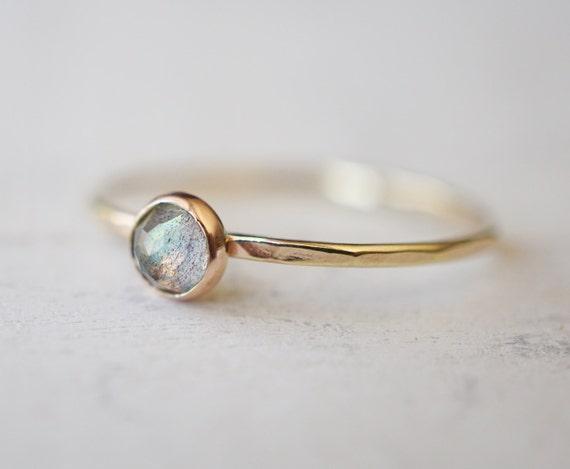 Baby Labradorite Ring