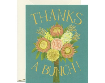 "Wildflowers Thank You Card - ""Thanks A Bunch!"" - ID: TY025"