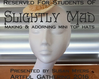 Swan Neck Mannequin RESERVED FOR STUDENTS of Artful Gathering 2016 workshop Slightly Mad by Susan Myers of Acorn House Designs