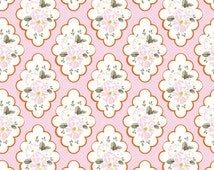 Wiltshire Daisy Fabric, Riley Blake C4332 Pink, Carina Gardner, Pink Floral Fabric, Girls Quilt Fabric, Floral Medallion Fabric