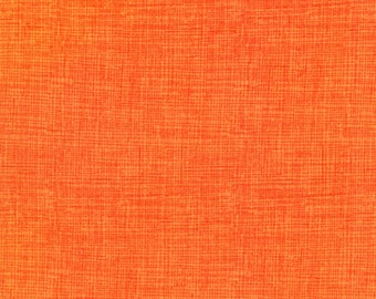 Orange Fabric, Timeless Treasures Fun C8224 Tangerine Sketch Basic, Orange Crosshatch Fabric, Quilt Blender Fabric, Orange Cotton