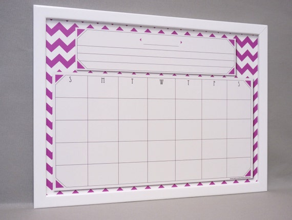 purple chevron whiteboard wall calendar framed dry erase monthly calendar monthly organizer command