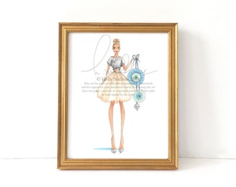 Katie (HOLIDAY Fashion Illustration Print)