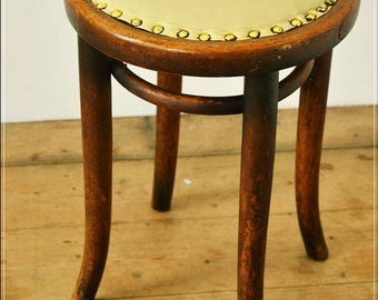 stool vintage mid century wood wooden bentwood