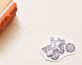 Postman rubber stamp