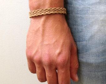 Mens Leather Bracelet , Mens Brown Bracelet , Mens Bracelet ,  Men's Jewelry , Bracelet For Men , Bracelet Homme , Boyfriend Gift , Men Gift