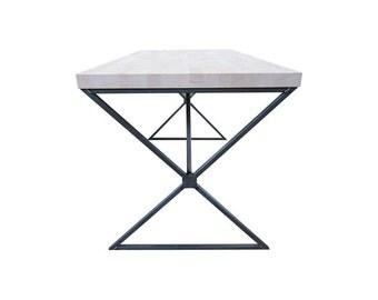 Industrial Designer Crossed Dining Table