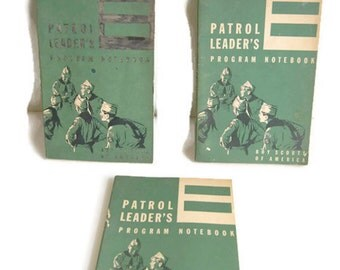Vintage Boy Scouts of America Patrol Leader's Program Notebook Lot of 3 1960s Printing