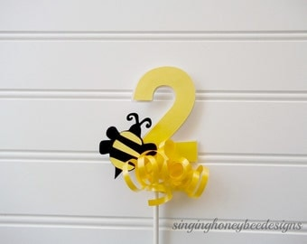 Honey Bee Cake Topper Age Birthday Party