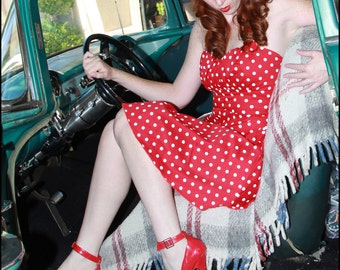 Halter Pinup Dress (multiple color choices!)