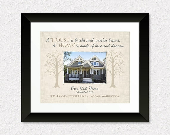 Custom Housewarming Gift Personalized New House Print With