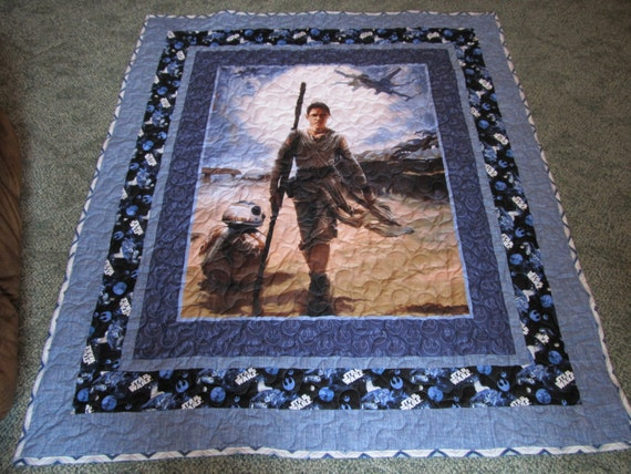 Rey Quilt Star Wars Quilt With Rey Rey And Bb8 Quilt
