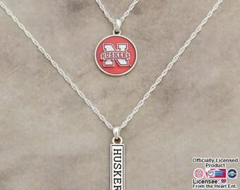Nebraska Cornhuskers Double Down Necklace - NB57804