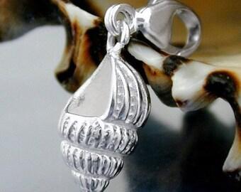 Snail Charm, Silver 925