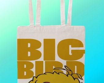 Big Bird Sesame Street - Reuseable Shopping Cotton Canvas Tote Bag