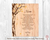 Mother of Bride Gifts, Mother Wedding Gifts, Mother of the Bride Gifts for Wedding, Personalized Print, Mother Poem, Mother Thank You