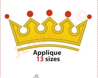 Crown Embroidery Design. Crown applique design. Embroidery Applique crown. Embroidery designs crown. Applique. Machine embroidery design