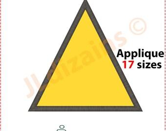 Triangle Applique Design. Triangle embroidery design. Shape applique design. Embroidery design triangle. Machine embroidery design