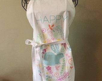 Tea Towel Apron: Happy Easter