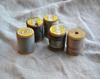 Pure silk thread, old silk thread, pure silk vintage thread, vintage silk thread, old sewing supply, vintage sewing supply, silk thread