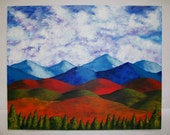 "A View of the Blue Mountains of the Adirondacks (ORIGINAL ACRYLIC PAINTING) 16"" x 20"" by Mike Kraus"