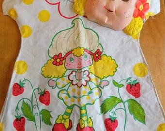 Childrens 1980s Ben Cooper Lemon Meringue Costume Strawberry Shortcake brand size S 4T to 5T