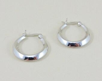 """Sterling Silver Hoop Earrings 3/4"""""""