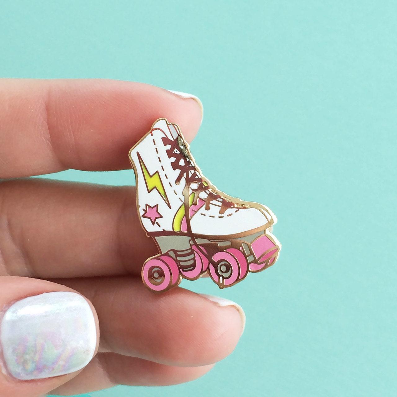 Roller skate shoes in sri lanka - Roller Skate Enamel Pin Flair Lapel Hard Enamel Roller Derby Girl