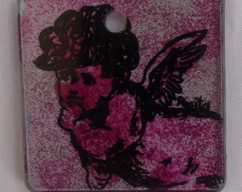 Glass wall decoration with Angel