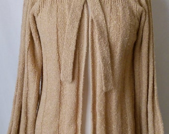 Sweater Tie-Neck Vintage 1980s by Marisa Christina