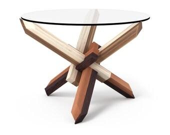 4x3 Round Wooden Puzzle Coffee Table - FREE SHIPPING to EU - by Praktrik