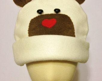 Infant Fleece Bear Hat, choose your color