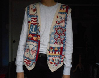 Vintage Patriotic Vest - 90s or later
