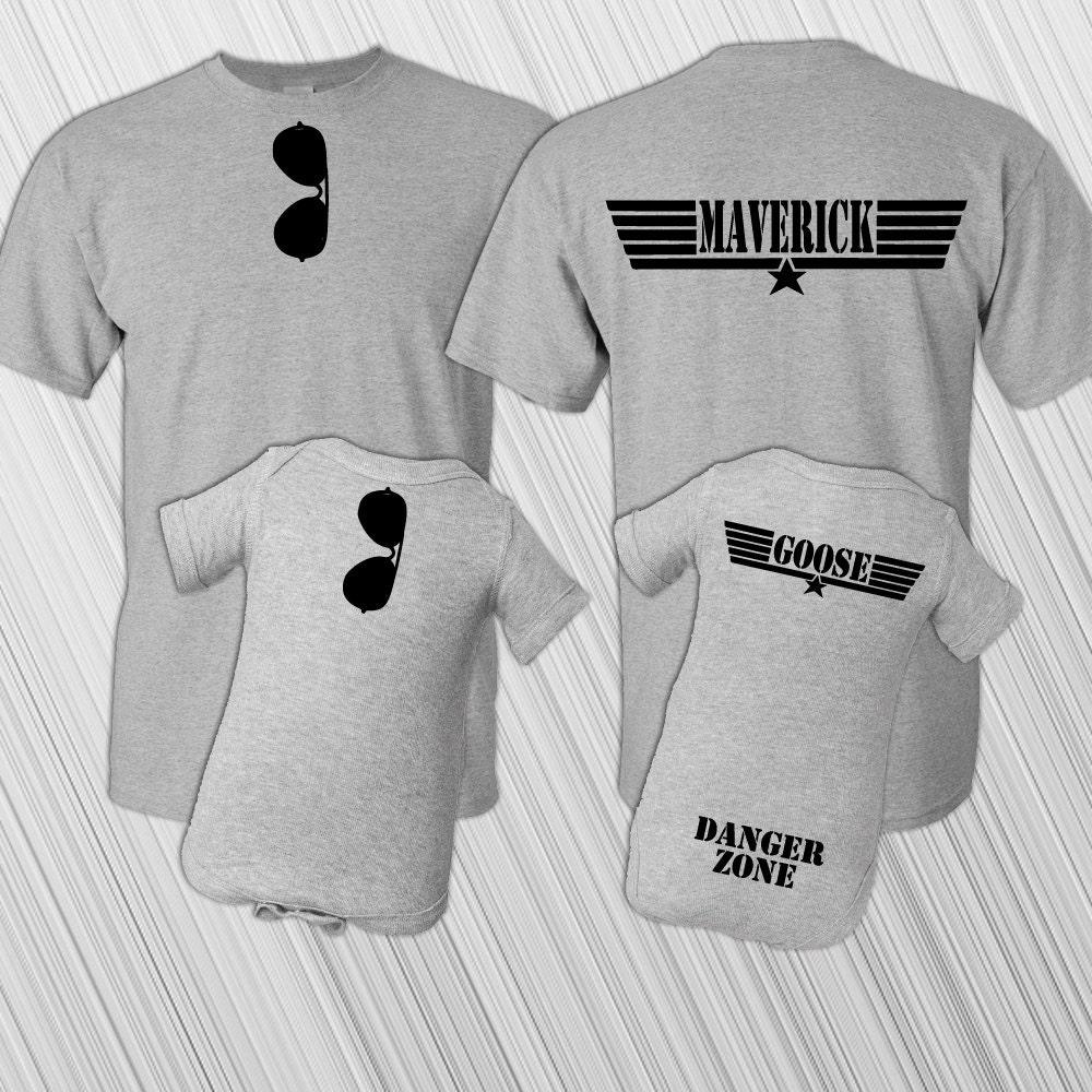 Father Son Matching Shirt Set Maverick And Goose New Baby